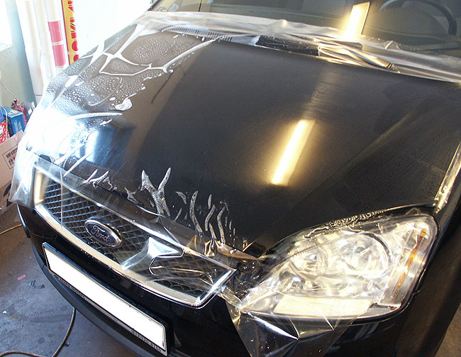 защита лакокрасочного покрытия автомобиля пленкой