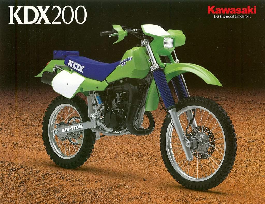 Обслуживание мотоцикла Kawasaki KDX200