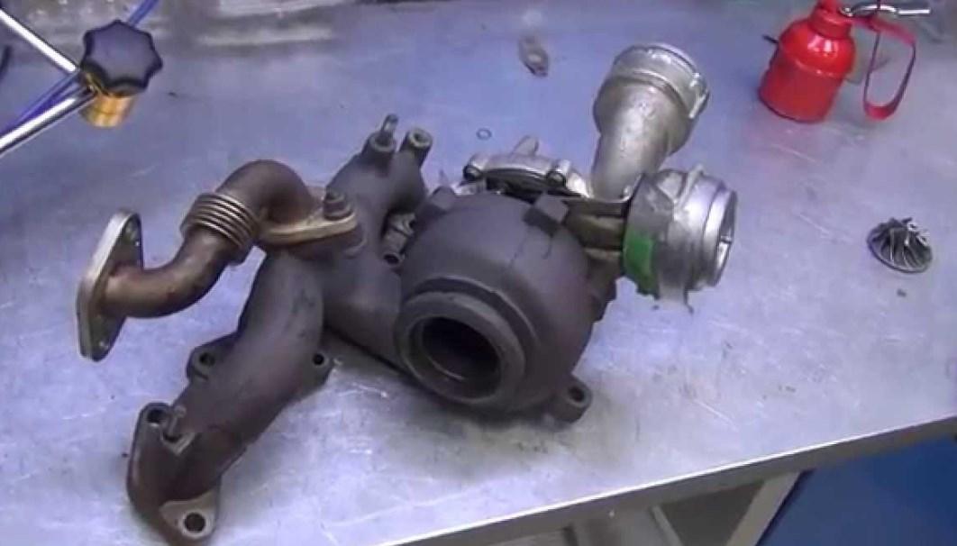 Разборка и сборка турбокомпрессора для регенерации - замена турбины