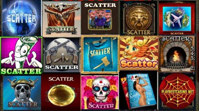Scatter символ в игровых автоматах казино Пин Ап