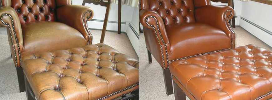 Как ремонтировать кожаную мебель?