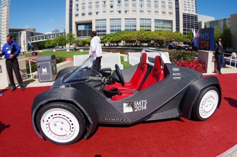 2014 году первый полностью напечатанный на 3D-принтере автомобиль