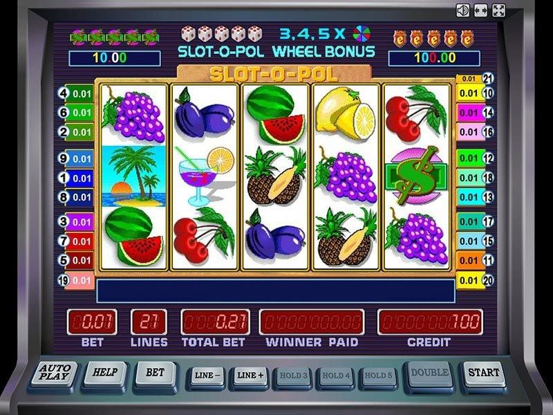 Игровой автомат Slot-o-Pol. игровое поле