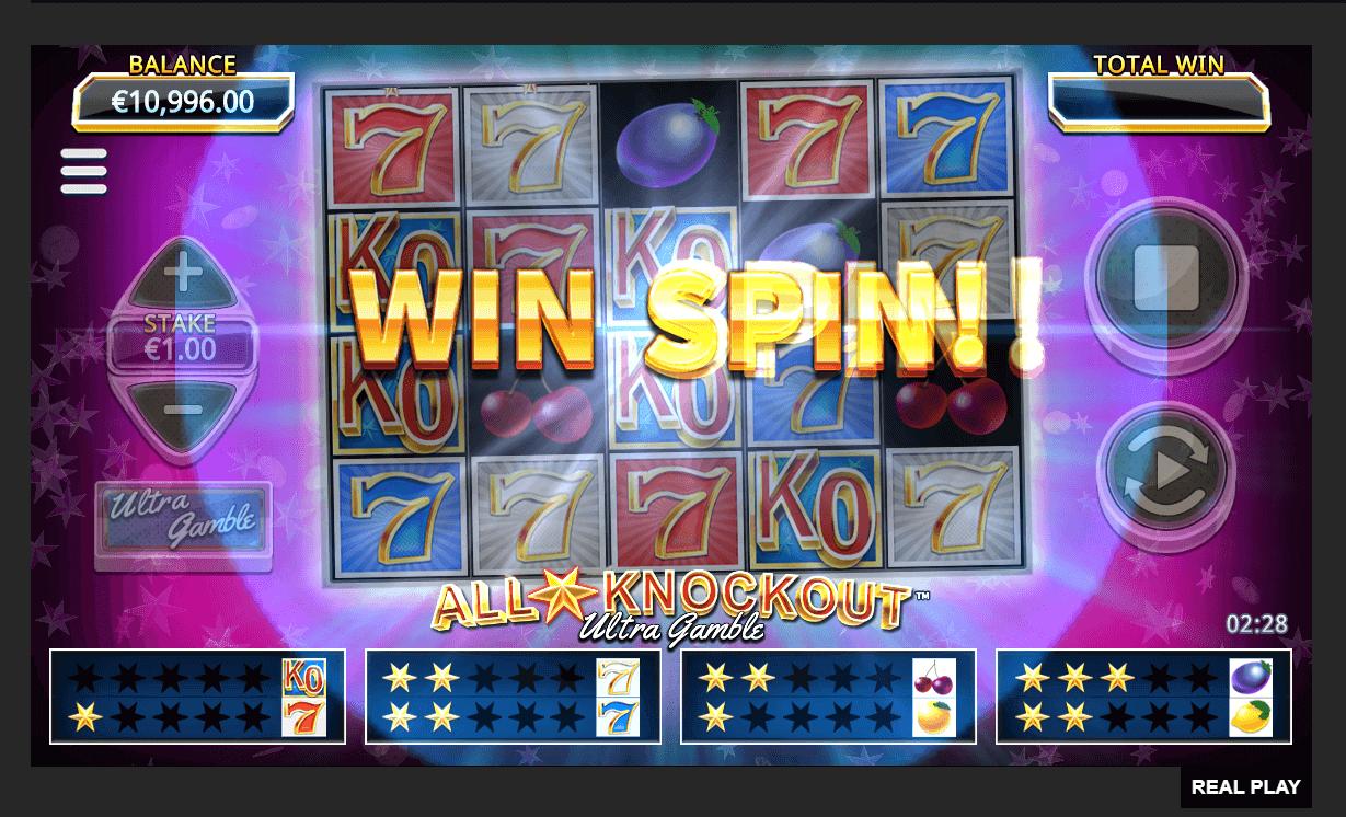 all stars knockout ultra gamble, играть в демо
