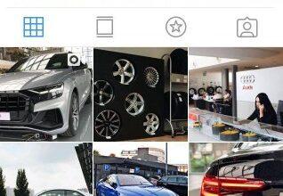 мини лендинг инстаграм тема авто